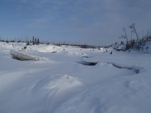 Negotiating a rapid on the Pontax River