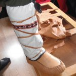 Deerskin and Canvas Moccasins