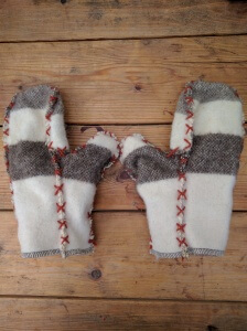 Our new 33oz Mitten Liners, made with high-quality Woolrich blankets!
