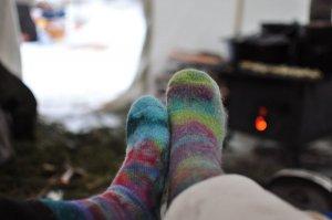 socks in tent