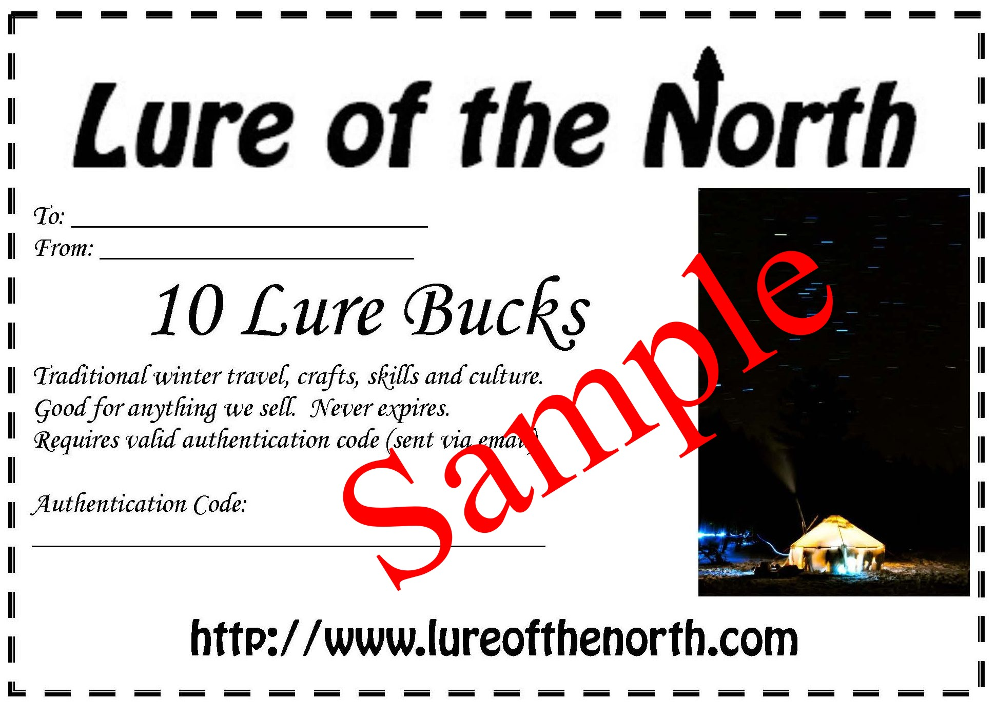lure bucks gift certificate lure of the north sample gift certificate