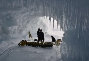 An ice cave on Lake Superior.  Photo courtesy Conor Mihell.
