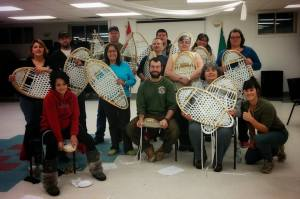 Beautiful new snowshoes woven with Chapleau Cree First Nations.